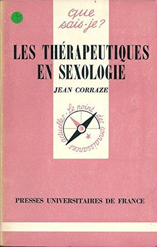 LES THERAPEUTIQUES EN SEXOLOGIE
