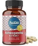 Ashwagandha Extrakt Kapseln hochdosiert - 7% Withanolide - höchste Dosierung - 100 Kapseln - Kein Magnesiumstearat - 100% Vegan - Made in Germany