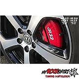R32 8x Bremse Felgen Aufkleber Tuning Scheibe Lack TYP-MRS214 `+ Bonus Testaufkleber