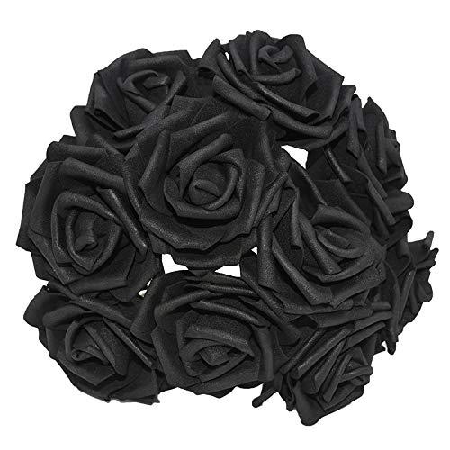 w Colorful Artificial PE Foam Rose Flowers Bride Bouquet Home Wedding Decor Scrapbooking DIY Supplies ()