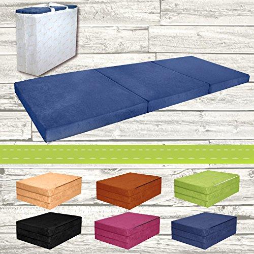 Materasso-pieghevole-per-ospiti-letto-per-letto-Ospite-futon-Pouf-195-x-80-x-9-cm-colore-blu
