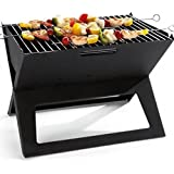 Ad Fresh Folding Portable Charcoal BBQ Barbecue Grill Broiler + BBQ Fan Free