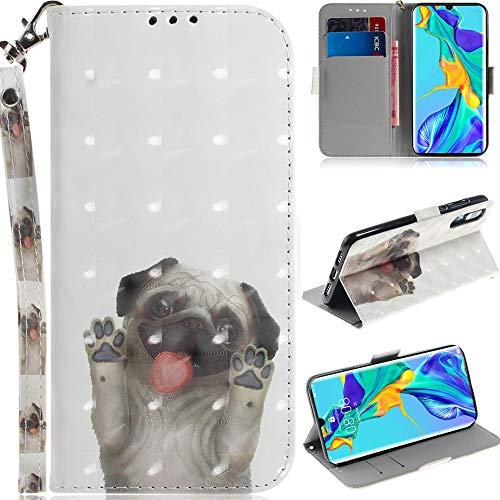 DodoBuy Asus Zenfone Max Pro M2 Hülle 3D Magnetische Flip PU Leder Schutzhülle Handy Tasche Case Cover Ständer mit Kartenfächer Trageschlaufe für Asus Zenfone Max Pro M2 - H&