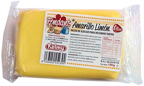Fondant Kelmy jaune citron de 100g