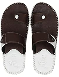 bc71a7bb6 Amazon.in  White - Flip-Flops   Slippers   Men s Shoes  Shoes   Handbags