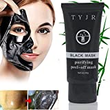 TYJR Beauty Activated Natural Charcoal Blackhead Cleansing Mask Cleaner Face Mask/Deep Clean Blackhead/Farewell Strawberry Nose/Blackhead Killer Facial Masks Black 60ml