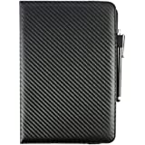 Emartbuy® 360 Degree Rotating Stand Folio Wallet Case Cover For Samsung Galaxy Tab S 10.5 Inch Tablet (Size 9-10 Inch 360_Black Carbon)