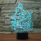 wangZJ 3d Night Light Illusion lampe lampe de table de chevet / 7 changement de...