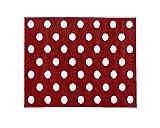 Little Helper Rot mit Weiß Spots Kinderzimmer Teppich, 150 x 100 cm
