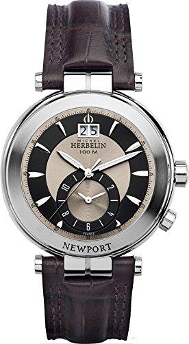 Michel Herbelin 18466/48MA Armbanduhr Herren, Leder, Farbe: Braun