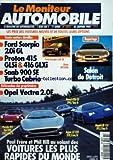 MONITEUR AUTOMOBILE (LE) [No 1073] du 26/01/1995 - ESSAIS - FORD SCORPIO - PROTON 415 - SAAB 900 SE TURBO CABRIO - SALON DE DETROIT - OPEL VECTRA - PAUL FRERE ET PHIL HILL AU VOLANT DES VOITURES LES PLUS RAPIDES DU MONDE