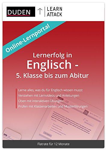 Duden Learnattack - Lernerfolg in Englisch - 5. Klasse bis zum Abitur (12 Monate Flatrate)