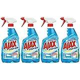 Ajax Nettoyant en verre avec pistolet de pulvérisation Pack de 4(4x 500ml)