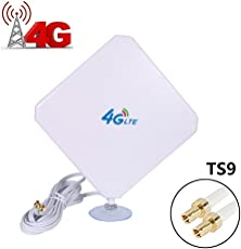URANT 35dBi TS9 Dual LTE 4G Antenna Booster Plug Aerial Long Range Signai Amplifier Receiver Outdoor High Gain Network Ethernet for 4G Wifi Router Mobile Broadband TS9 TS9