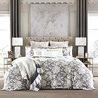 Tommy Hilfiger Broadmoor Floral Comforter Set, Twin, Gray/Cream