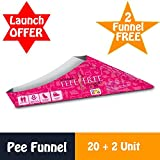 #3: Bey Bee Urine funnel for women Disposable Portable Light Weight For Female Urination Device Now Freedom to Stand and Pee in unfriendly Toilets ( Stand & Pee) (Pack of 20)