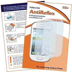 2x mumbi Displayschutzfolie Samsung Galaxy Fame Schutzfolie AntiReflex antireflektierend (NICHT für Fame Lite)