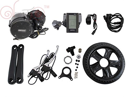 36V 500W 8Fun Bafang Mid-Drive Motor Conversion Kits with integrated Controller and LCD Display by 8Fun