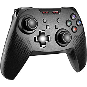 Molyhood Wireless Controller für Nintendo Switch Bluetooth Wireless Pro Controller für Nintendo Switch, mit einstellbarem Turbo Dual Shock Gyro Achse für Nintendo Switch und PC