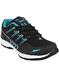 Arexon Men's Synthetic Black Colored Sport Shoe( Men's Running Shoe, Breathable Sports Shoe, High Grip Sports...