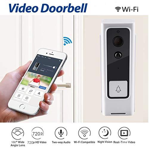 htfrgeds Wireless WiFi Smart Türklingel Intercom Ring Türklingel HD Überwachungskamera mit PIR Bewegungserkennung Nachtsicht Zwei-Wege-Gespräch und Echtzeit-Video Intercom-ring