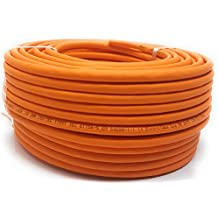 50.0M - Cat 7 Reel - Cable Ethernet, Cable libre de halógeno de 1000 MHz / Copper / Super Fast - (PoE) / PoE + (Naranja)