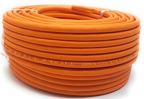 50 m Gigabit cuivre, sans halogène Câble Ethernet Cat 7 1000 MHz pour TV en streaming/UHD/IPTV/lecteurs Multimédia/Récepteurs Satellite/Câble réseau serveurs/ordinateurs PC/Super Fast Ethernet