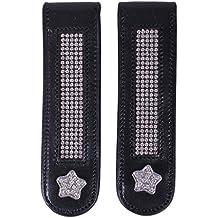 QHP Stiefel Clip Bernice Lack Leder Clip mit Strass zum