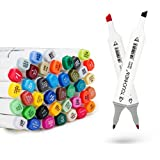 Anicoll 80 Marker Pens verdoppelt spitzt Marker Stifte für Kunst Sketch Twin färbig Highlighters mit Tragetasche für Malerei Coloring Hervorhebungen und Unterstreichungen