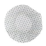 sourcingmap Badezimmer Plastik Blatt Punkt Muster Wasserdicht Dutsche Haar Hut Grün