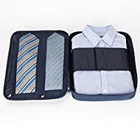 Newsky Multi-function Waterproof Shirt Ties Organizer Storage Bag Travel Pouch Luggage Navy