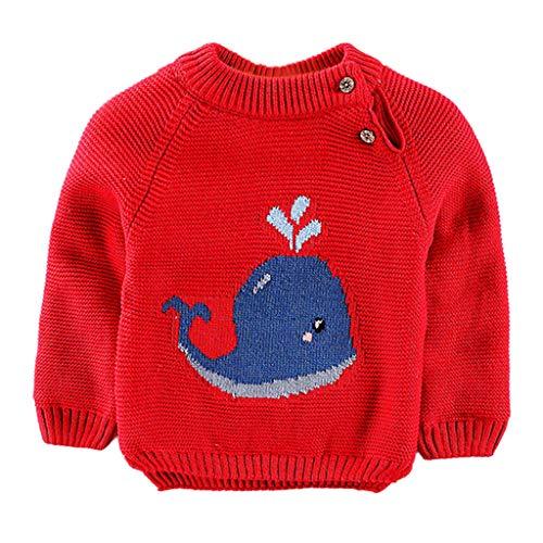 QinMM Dibujos Animados cetáceos suéter Bebé niña niño Jersey de Punto Tops...