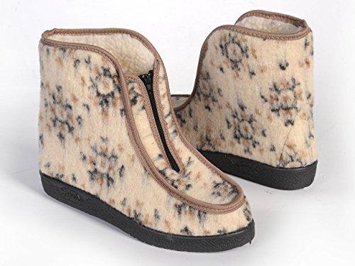 Women's Ladies Sheepwool Warme Hausschuhe Boots. Dadurch verwendet verschiedene Farben Beige