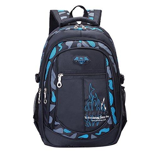 Schulrucksack für Jungen Jugendliche Schulranzen Rucksack Schultaschen Outdoor Freizeit Daypack (Blue)