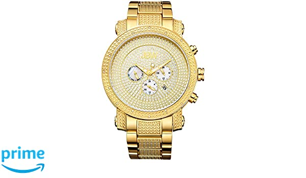 Quartz Men's Braceletamp; Case Watch 50mm Jbw Victor 18k Gold Plated ZOPkXiuT