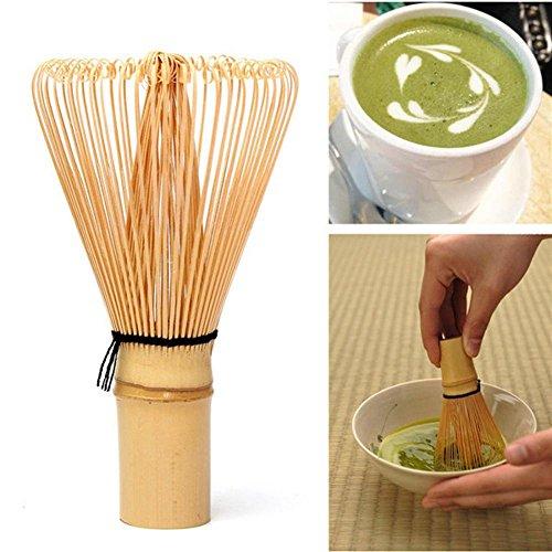 MagiDeal Bambus Chasen Matcha Pulver Quirl Werkzeug Japanische Teezeremonie Zubehör 75-80 Borsten