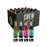 CREW Republic Craft Beer IPA Paket, Craft Bier Probierset Biertasting (20 x 0,33 l)