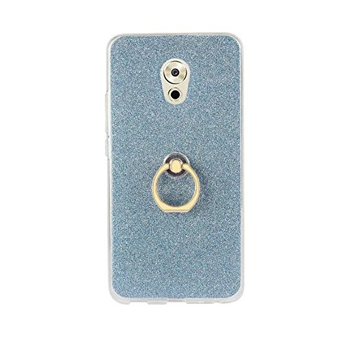 Soft Flexible TPU Back Cover Case Shockproof Schutzhülle mit Bling Glitter Sparkles und Kickstand für Meizu Meilan Pro 6 Plus ( Color : Gold ) Blue