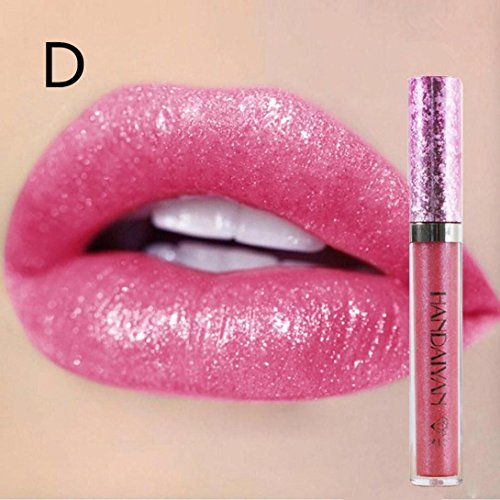 Lippenstift Matt, HUIHUI Schönheit Lippe Gloss Long Lasting Moisturizing Lippenstift Lip Gloss Fashionable Colors Matte Liquid Lipstick (04 #) (Liquid Lip Gloss)