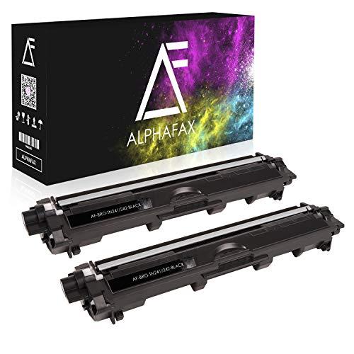 Alphafax 2 Toner kompatibel für Brother TN-241 TN241 für Brother MFC-9142CDN, Brother DCP-9022CDW, MFC-9342CDW, MFC-9332CDW, HL-3150CDW, HL-3170CDW - TN241BK - Schwarz je 2.500 Seiten