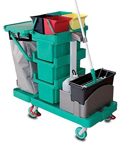 chariot-nettoyage-antares-sds-vert-hds-equipement-nettoyage-desinfection-hygiene