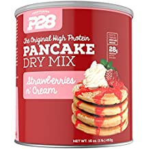 P28 Foods The Original High Protein Pancake Dry Mix, Strawberries N' Cream, 16 Ounce
