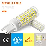 XIX G9 Sockel 6W LED Glühbirne, Äquivalent zu 75W Halogenlampe Ersatz, AC 100V-265V, stabiler Strom, kein Flimmern, nicht dimmbar. Packung mit 2 Stück