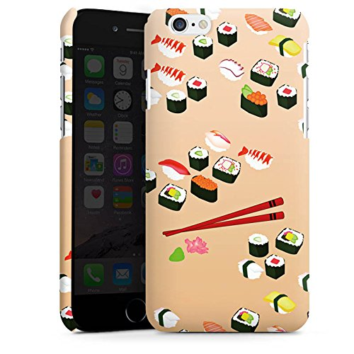 Apple iPhone X Silikon Hülle Case Schutzhülle Sushi Essen Fastfood Premium Case matt