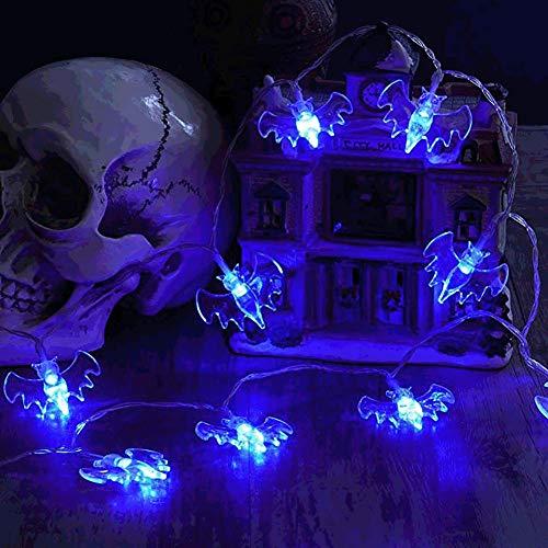(JINLE halloween - schläger string lichter, batteriebetriebene 16.5ft 40 leds wasserdicht dekoration lichter indoor/outdoor - halloween - party weihnachtsfeiertage hof dekorationen dekor, blaues licht)