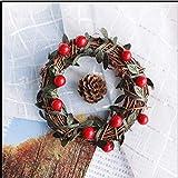 WYFC rote Weihnachtsfrucht Perle Serviettenring Weihnachten. Acryl. 1.77inch. Satz von 12