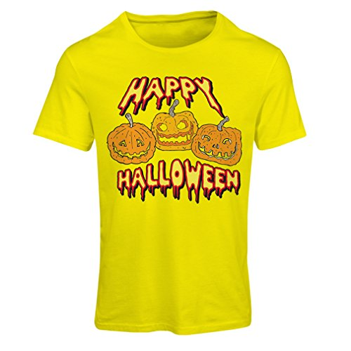 Frauen T-Shirt Happy Halloween! Party Outfits & Costume - Gift Idea (XX-Large Gelb (Dallas In Partys Halloween)