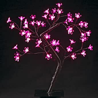 Arbre lumineux 48 LED roses - 877244A