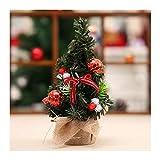 WUFANGFF 20 cm Niedliche Weihnachtsbaum Mit Bowknot Bogen Christmas Ball Geschenk Schmuck Für Weihnachten Home Party Tisch Dekorationen, C
