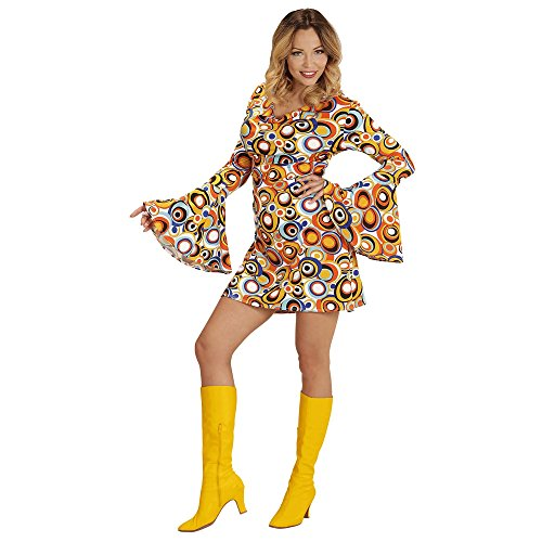 Widmann 08892 Erwachsenenkostüm 70's Retrokleid, - 70's Disco Kostüm Muster